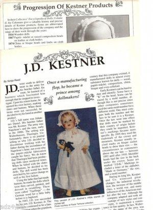 Interesting Article/Pics/Genealogy/Info on J.D.Kestner Antique Doll Products