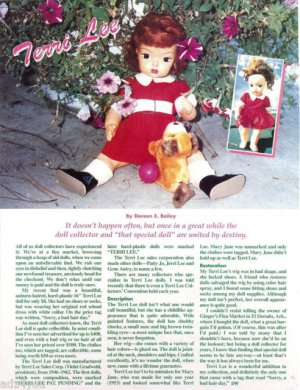 Interesting Article/Information 1950s Terri Lee Doll