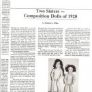 Interesting 1987 Article on Composition Dolls of 1920