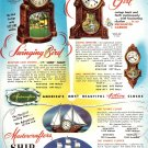 '50s/50's Mastercrafters Motion/Action/Ship CLOCK Ad/Advertisement~Great GoAlong