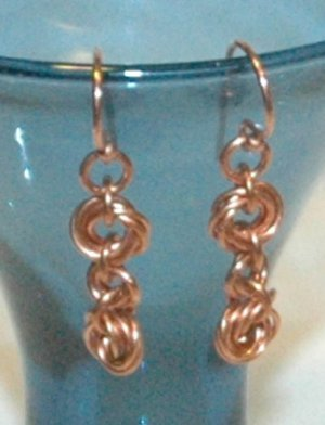 Copper Mobius Chainmaille Earrings