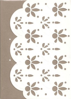 New Lined Gray Doily Journal or Diary