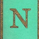 "NEW Lined Teal Leopard ""N"" Journal or Diary"