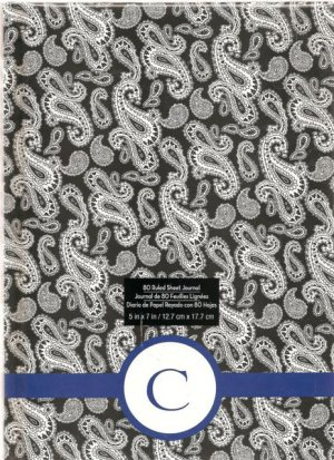 """NEW Lined Blue Patterned """"C"""" Journal or Diary - Special Price!"""