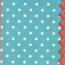 New Lined Blue With Sparkly Polka Dots Journal or Diary - Sale Priced!