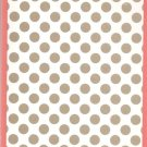 NEW Lined Gray Polka Dot Journal or Diary - Sale Priced!