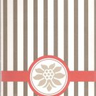 NEW Lined Striped With Flower Journal or Diary - Sale Priced!
