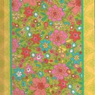 NEW Lined Yellow Bordered Garden Quilt Journal or Diary - Special Priced!
