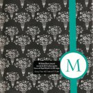 "NEW Lined Teal Stripe Bouquet ""M"" Journal or Diary - Special Price!"