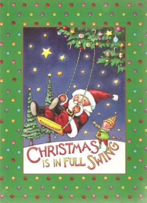 NEW Lined Santa Swinging Journal or Diary