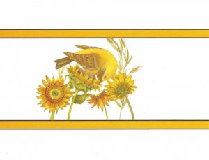 New Glittery Canary Notecards - 8 Pack