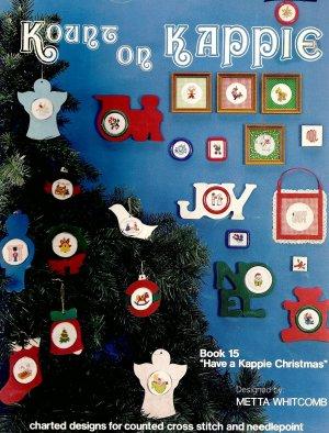 "Kount on Kappie ""Have a Kappie Christmas"" Cross Stitch Pamphlet"