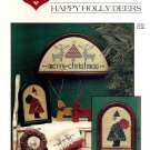 Happy Holly Deers Christmas Counted Cross Stitch Pattern Booklet