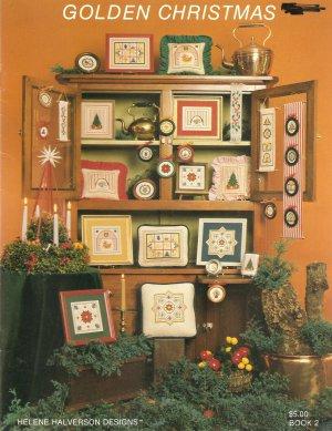 Golden Christmas Cross Stitch Pattern