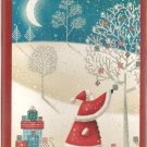 New Glittery Santa Christmas Cards - 18 Pack