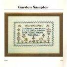 Garden Sampler Cross Stitch Pattern
