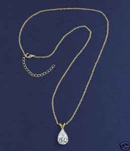 PEAR-SHAPED CUBIC ZIRCONIA NECKLACE
