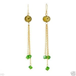 STYLISH CHANDELIER EARRINGS WITH PRECIOUS STONES