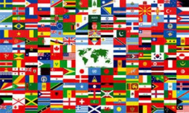 United Nations Complete Set of 193 Stick Flags
