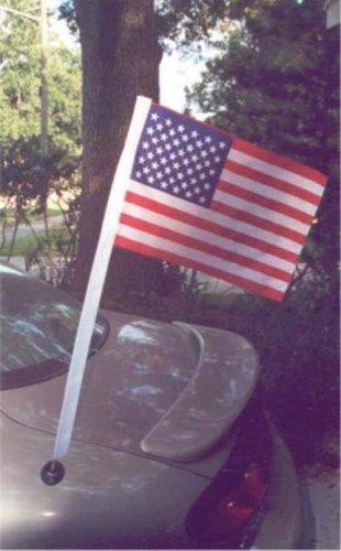 "12"" x 18"" U.S.Poly/Cotton Car Antenna Flag"