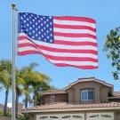 18 ft. Steel Valley Forge Flagpole Kit Plus(1) 3'x5' U.S. Flag & (2) U.S. Car Antenna Flags