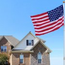 20 Ft Telescopic Aluminum Flagpole Flag Ball Pole Top Kit W/ 3'x5' American Flag (FREE SHIPPING)