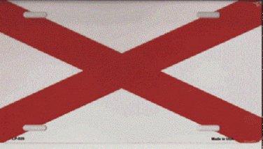 Alabama State Flag Car License Plate