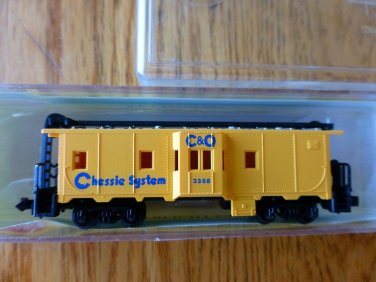 Model Power N Scale #3121  C&O Chessie System Bay Window Caboose