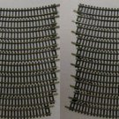 "20 CURVED 9 3/4"" N SCALE TRAIN TRACK NICKEL SILVER"