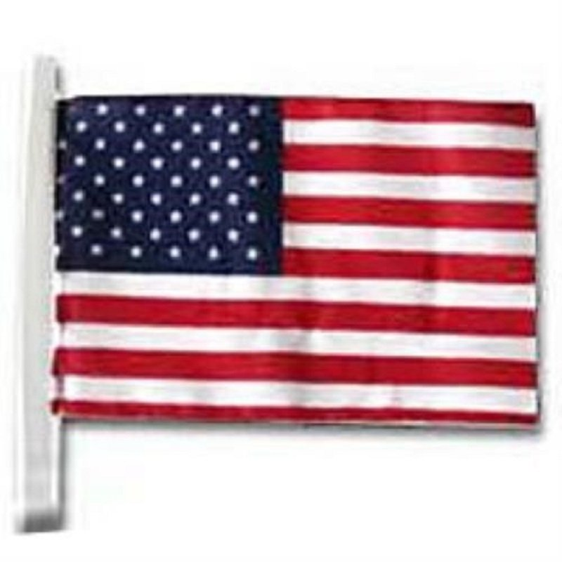 """12"""" x 18"""" U.S. Poly/Cotton Car Antenna Flag - Including 2 Mystery Gifts"""