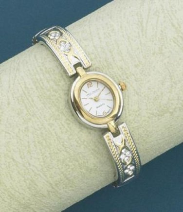 WOMEN'S DUO-TONE DRESS BRACELET WATCH