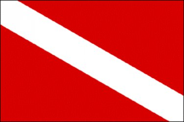 Diver Down Polyester Flag 3 X 5