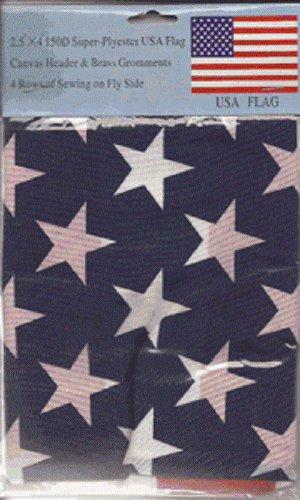 2 1/2' X 4' FT. SUPER-POLYESTER OUTDOOR LIGHTWEIGHT U.S. FLAG