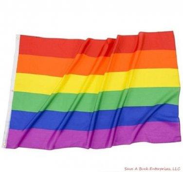 Rainbow Flag / Gay Pride Polyester Flag 3' X 5'