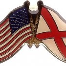U.S. & STATE FLAG LAPEL PIN- Alabama