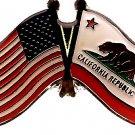 U.S. & STATE FLAG LAPEL PIN- California