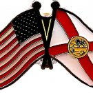 U.S. & STATE FLAG LAPEL PIN- Florida