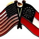 U.S. & STATE FLAG LAPEL PIN- Georgia