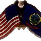 U.S. & STATE FLAG LAPEL PIN- Idaho