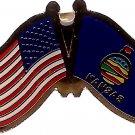 U.S. & STATE FLAG LAPEL PIN- Kansas