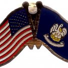 U.S. & STATE FLAG LAPEL PIN- Louisiana