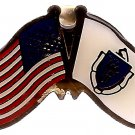 U.S. & STATE FLAG LAPEL PIN- Massachusetts