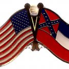 U.S. & STATE FLAG LAPEL PIN- Mississippi