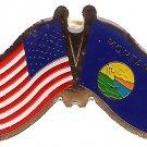 U.S. & STATE FLAG LAPEL PIN- Montana