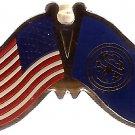 U.S. & STATE FLAG LAPEL PIN- Nebraska