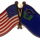 U.S. & STATE FLAG LAPEL PIN- Nevada