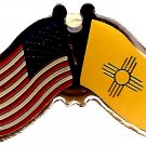 U.S. & STATE FLAG LAPEL PIN- New Mexico