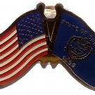 U.S. & STATE FLAG LAPEL PIN- Oregon
