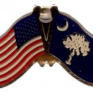 U.S. & STATE FLAG LAPEL PIN- South Carolina