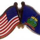 U.S. & STATE FLAG LAPEL PIN- Vermont